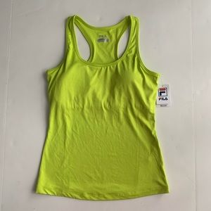 Fila Sporty Neon Green Athletic Tank Top Medium